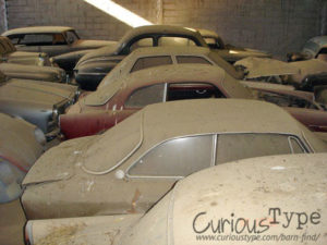 alfa bertone, giulietta sprinter and peugeot 205 classic cars found in barn